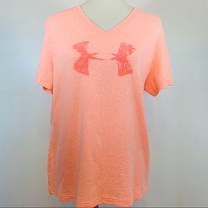 Under Armour Women's Orange Heat Gear Loose Tee XL